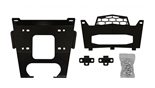 SuperATV Heavy Duty Winch Mounting Plate for Polaris General/RZR 1000/1000 S / 900/900 S - (See Fitment for Details)