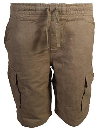Quad Seven Boys Pull-On Twill Cargo Shorts, Wheat, Size (10' Shorts)