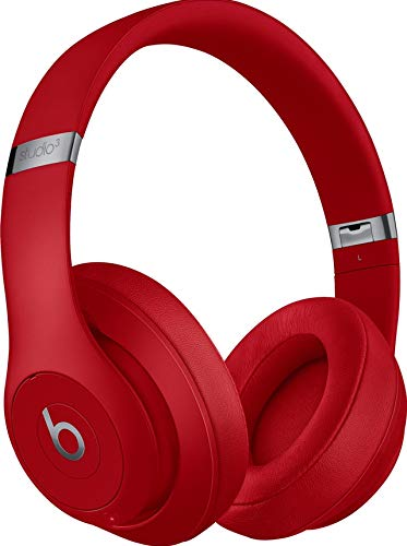 Beats S/t/u/d/i/o_3 Wireless Over The Ear Headphones with Carrying case, 3.5mm RemoteTalk Cable and Universal USB Charging Cable (USB-A to USB Micro-B) (Red)