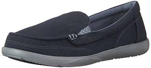 Loafer crocs Azul Plateado Lona marino de Walu Mujer para II wqr6q4xCE