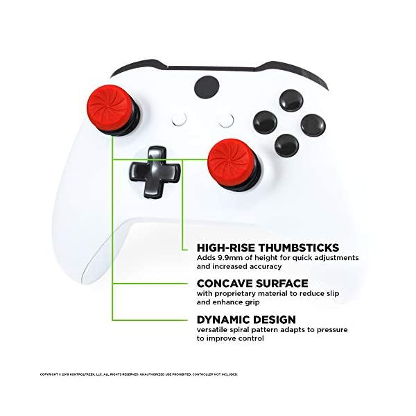 KontrolFreek FPS Freek Inferno for Xbox One Controller | Performance Thumbsticks | 2 High-Rise Concave | Red 4