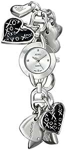 XOXO Women's XO7030 Silver Dial Silver-tone Heart Charms Watch