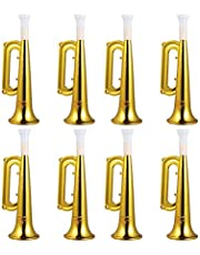 Toyvian 18pcs Plastic Trumpet Noise Maker Kids Megaphone Trumpet Horn Wind Instrument Gift for Kids Toddlers Birthday Party Favor