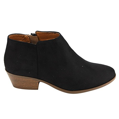 Soda FC67 Women's Western Inside Zipper Stacked Heel Ankle Booties