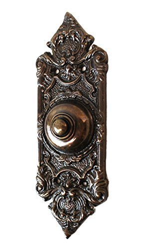 Button Replica (The Kings Bay Antique Replica Bronze Over Brass Door Bell Button Victorian Style 7.5