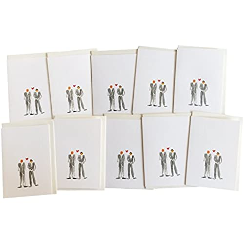 Gay Wedding Cards Men Getting Married Greeting Cards from GayaCards, Multipack, For a Very Special Day, Get these Sales