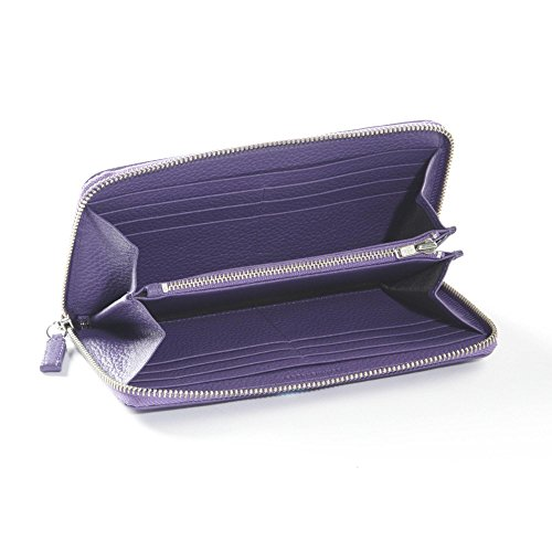 Zippered Continental Wallet - Full Grain Leather - Grape (purple) by Leatherology (Image #1)