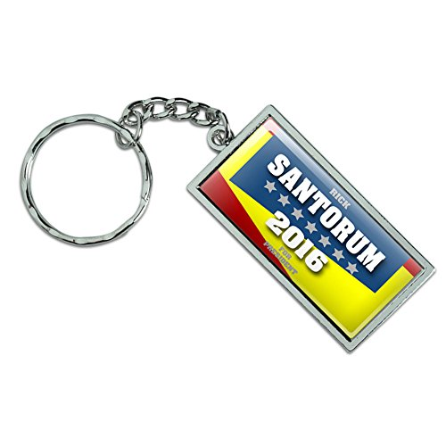 Rick Santorum For President 2016 Election Campaign Metal Keychain Key Chain Ring