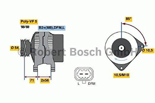 Bosch 0124425060 New Alternator