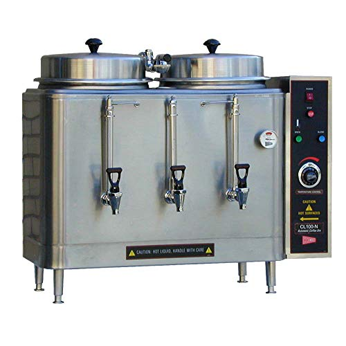 Cecilware Coffee Urn - Grindmaster-Cecilware CL100N-117402 Twin Coffee Urn with (2) 3 Gallon Capacity Tanks