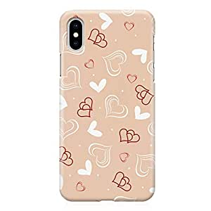 Loud Universe Case for iPhone XS Wrap around Edges Valentines Day Couples Love Heart Pattern Durable Modern Printed Edge New iPhone XS Cover