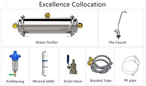 Kitchen cleaning system Water Purifier 304 stainless steel Filter Water Distiller Water Filiter (Excellence Collocation) by Perfect_Global