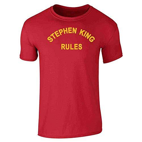 (Stephen King Rules Horror Red L Short Sleeve)