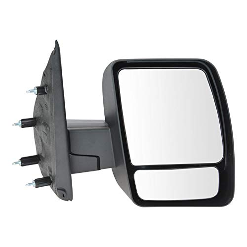 Mirror Manual Black Textured Passenger Side for 12-13 Nissan NV 1500 2500 3500