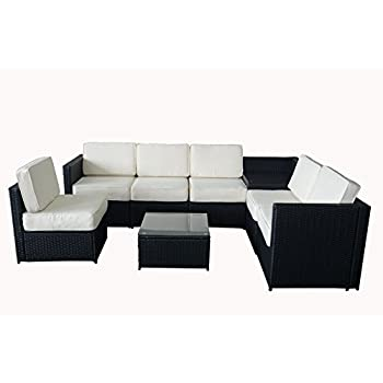 Amazon.com : MCombo 6085-1013 Patio Sectional Indoor Outdoor Sofa ...