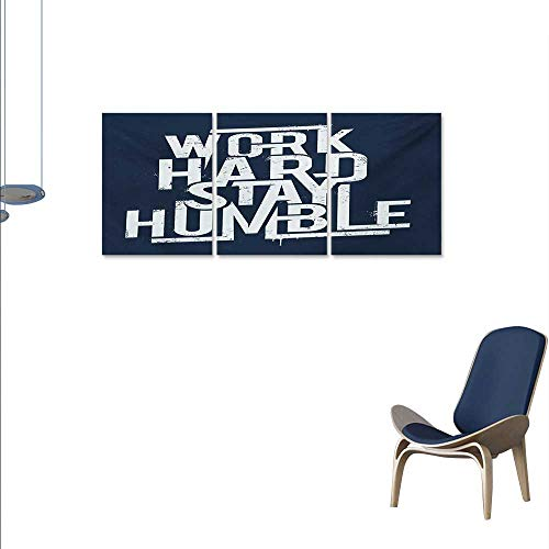 Quote Art-Canvas Prints Futuristic Design Inspirational Saying Work Hard Stay Humble Typography Modern Wall Art for Living Room Decoration 16