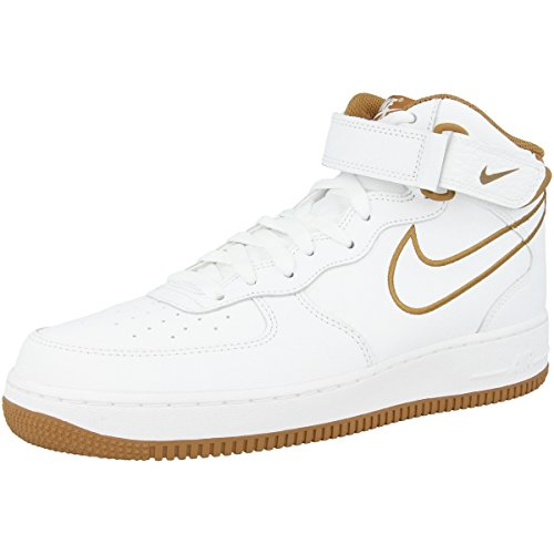 White Bronze Aq8650 1 Mid 101 Air muted Basketball '07 Chaussures Nike LTHR de Force Homme Fvw7H7qR
