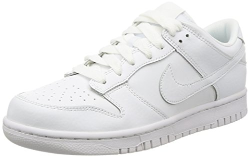 NIKE Men's Dunk Low White/White White Skate Shoe 10.5 Men US