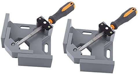 2 Set of NUZAMAS 90 Degree Corner Clamp Right Angle Clamp Aluminum Alloy Made, Adjustable Swing Jaw Corner Clamp, Woodworking Vice Wood Metal Welding Gussets, Single Handle [並行輸入品]