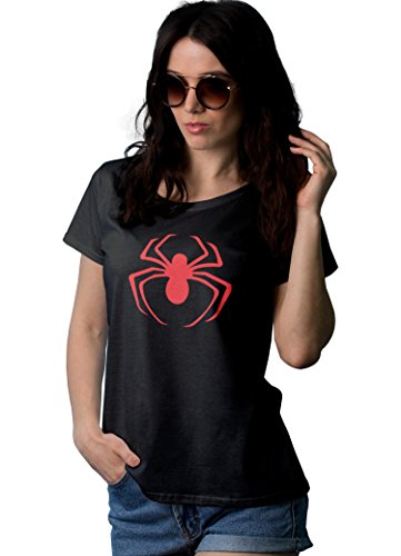 Womens Black Spider Red Logo Shirt | XL ()