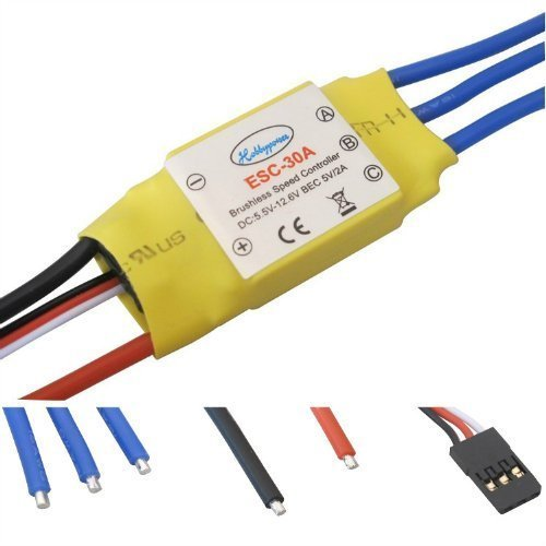 Helicopter Rc Esc - powerday 30A Brushless Speed Controller ESC for RC Helicopter Airplane Multirotor