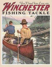 Tin Sign Winchester - Fishing Tackle , (Discount Fish Tackle)