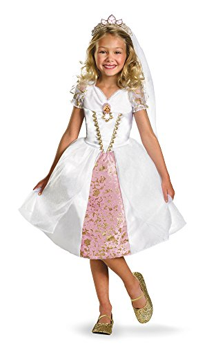 Disney Tangled Rapunzel Wedding Gown Costume, Gold/White/Pink, -