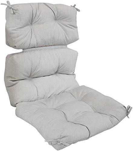 Sunnydaze Indoor/Outdoor Tufted High Back Chair Cushion