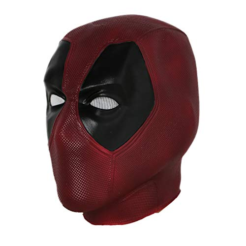Xcoser Wade Mask Helmet Movie Vesion Latex Full Head Face Mask Cosplay Props, V4 Latex Normal Size
