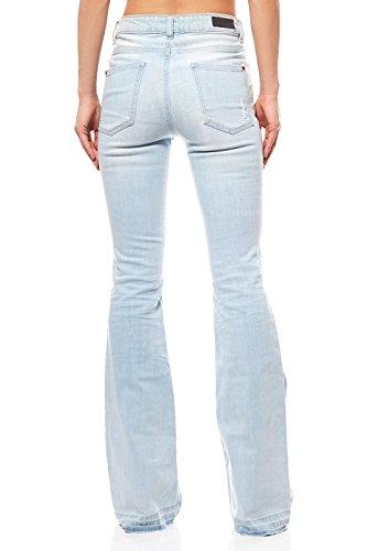 Mujer Pantalón Colorado Para Denim Para Denim Pantalón Colorado wqZfWHRz