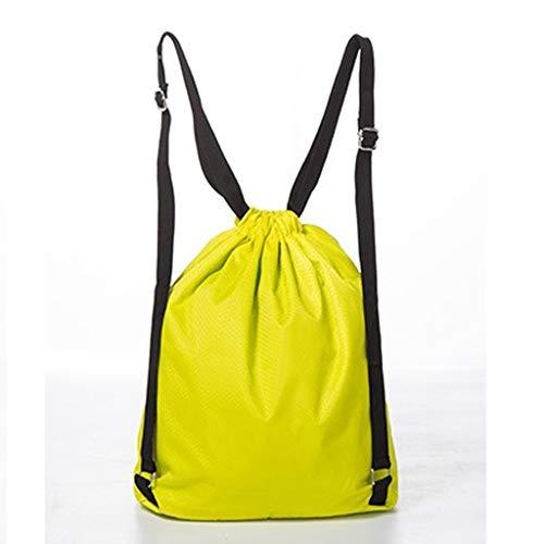 Swim Yellow Waterproof Organizer Sports Bag B Duffle Storage Drawstring Baosity Backpack wqAHvIg