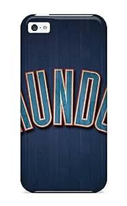 DanRobertse Iphone 5c Hybrid PC Case Cover Silicon Bumper Oklahoma City Thunder Basketball Nba WANGJING JINDA