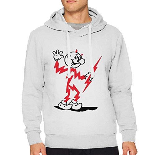 Sbbiegen886wo Men Reddy Kilowatt Retro Mascot Comfortable Hoodies M -