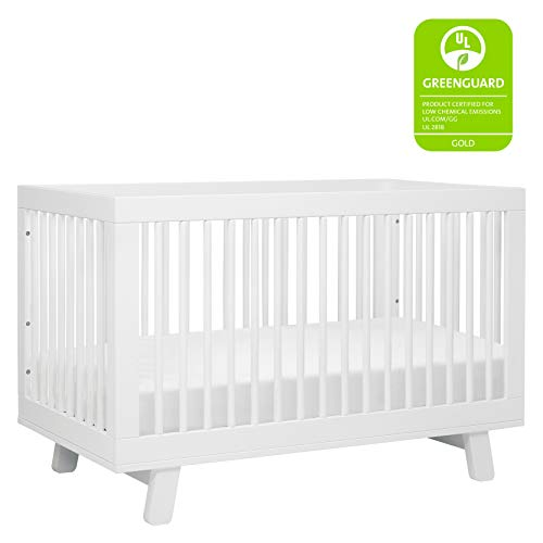 41AcH1fS08L - Babyletto Hudson 3-in-1 Convertible Crib With Toddler Bed Conversion Kit In White, Greenguard Gold Certified
