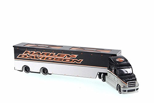 Harley Davidson Custom Hauler Trailer Grey 1/64 Diecast for sale  Delivered anywhere in USA