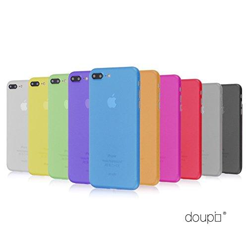 doupi UltraSlim AllClear TPU Funda para iPhone 8 Plus / 7 Plus ( 5.5 ) Ligero estuche projoector Cover Case, transparente negro