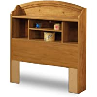 Prairie Collection Twin Bookcase Headboard Country Pine finish
