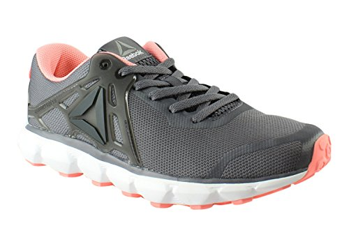 Reebok Women's Hexaffect Run 5.0 Mtm Track Shoe, Ash Grey/Black/Sour Melon/Pewter/White/Alloy, 7.5 M US