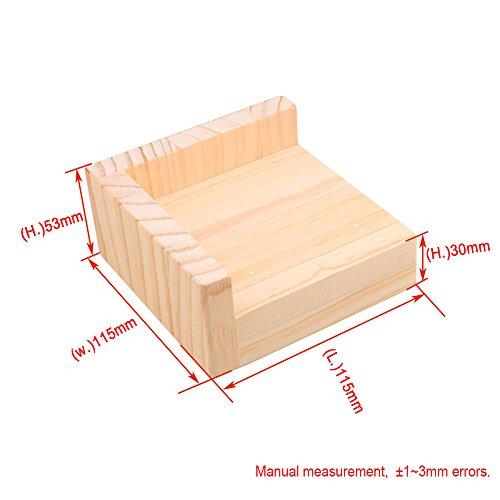 RDEXP L-shaped Semi-closed Lift Wood Bed Desk Riser Lifter Table Furniture Soft Feet Lifts Storage 11.5x11.5x5.3cm by RDEXP (Image #4)