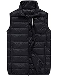Men's Packable Travel Light Weight Insulated Down Puffer Vest with Chest Pocket