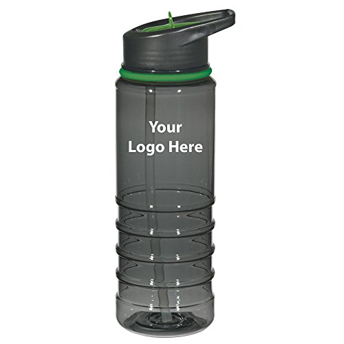 24 Oz. Gripper Bottle With Straw - 48 Quantity - $4.49 Each - PROMOTIONAL PRODUCT / BULK / BRANDED with YOUR LOGO / (Identity Stainless Water Bottle)