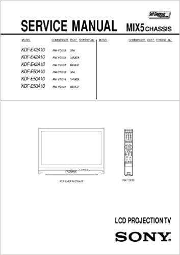 repair manual sony kdf e42a10 lcd projection tv