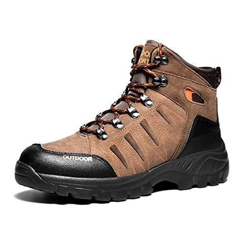 GanQuan2018 Men's Hiking Boots Casual High-top Cold-Weather Warm Shoes