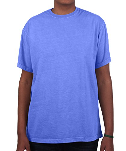Tee 100% Heavyweight Cotton (Have It Tall Men's T Shirt Premium Ringspun Cotton Made in USA ST - 6XLT Flo Blue X-Large Tall)