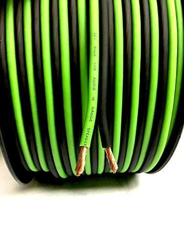 200' feet True 12 Gauge AWG OFC Speaker Wire Green/Black Car Home Audio