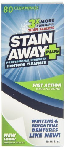 Stain Away Plus Denture Cleanser, 8.1-Ounce (Pack of 3) by Stain Away