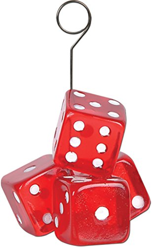 Beistle 50782 Dice Photo And Balloon Holder - Pack of 6 -