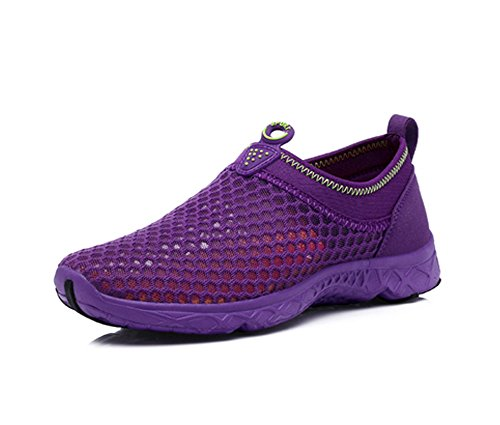 Yiruiya Womens Mesh Athletic Walking Sneakers Water Shoes Purple2