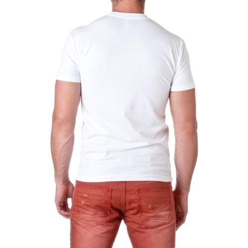 Next Level Apparel Men's Premium Cotton Blend Crewneck Shirt, Classic White, Size Large