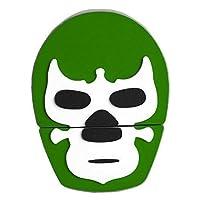 By Mexico USB modelo Máscara de Luchador Verde 8 GB
